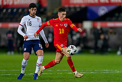 SWANSEA, WALES - Thursday, November 12, 2020: Wales' Harry Wilson during an International Friendly match between Wales and the USA at the Liberty Stadium. (Pic by David Rawcliffe/Propaganda)