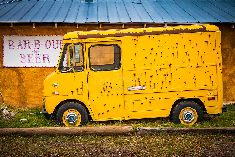 Old van in Marfa, Texas