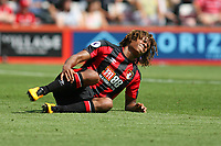 Football - 2017 / 2018 Premier League - AFC Bournemouth vs. Manchester City<br /> <br /> Bournemouth's Nathan Ake winces in pain at the Vitality Stadium (Dean Court) Bournemouth<br /> <br /> COLORSPORT/SHAUN BOGGUST