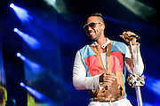 Romeo Santos performing at Yankee Stadium on July 11, 2014 in the Bronx, New York.