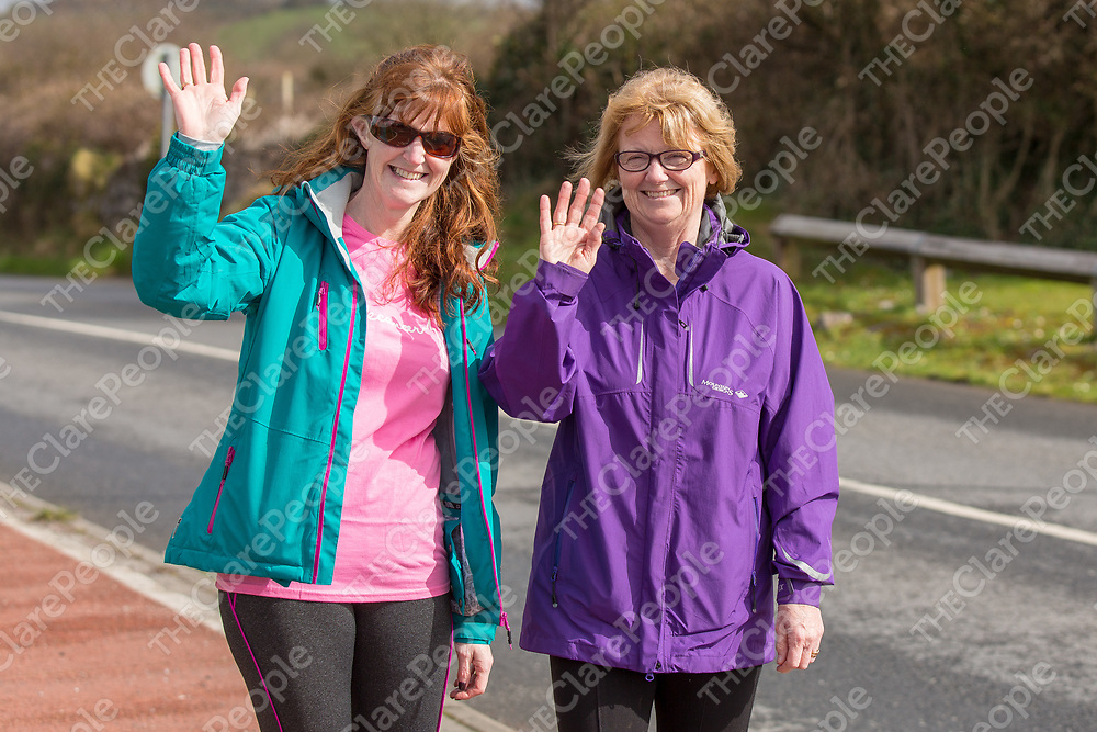Lorraine Clune and Brid Cotter taking part in the 'Go Pink for Maxine' Memorial 5K Run/Walk on Saturday
