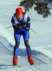 Slovenian cross-country skier Luka Gostincar at 10th OPA - Continental Cup 2008-2009, on January 17, 2009, in Rogla, Slovenia.  (Photo by Vid Ponikvar / Sportida)