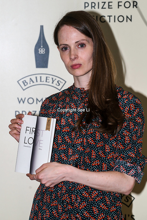London,UK. 7th June 2017. Gwendoline Riley attends a photocall The Baileys Prize for Women's Fiction Awards 2017 at the The Royal Festival Hall, Southbank Centre. by See Li
