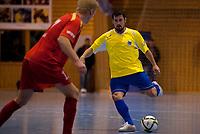 Futsal<br /> 08.01.11<br /> Eliteserien<br /> Framohallen<br /> Solør - Fyllingsdalen 4 - 5<br /> Thomas Ulvestad (R) , Fyllingsdalen<br /> Bjørn Viljugrein (L) , Solør<br /> Foto : Astrid M. Nordhaug
