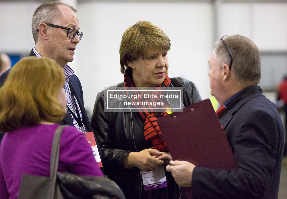Scottish Parliament Election 2016 Royal Highland Centre Ingliston Edinburgh 05 May 2016; Lesley Hinds (Labour) arrives early for the count during the Scottish Parliament Election 2016, Royal Highland Centre, Ingliston Edinburgh.<br /> <br /> (c) Chris McCluskie | Edinburgh Elite media