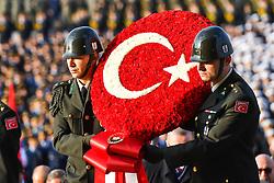 November 10, 2018 - Ankara, Turkey - Turkey hold ceremony at the mausoleum of Mustafa Kemal Ataturk, the founder of modern Turkey, to commemorate his 80th death anniversary in Ankara. (Credit Image: © Depo Photos via ZUMA Wire)