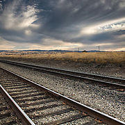 Railroad Tracks in East Tracy, CA