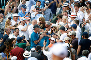 Simona HALEP (ROU) won the women final and celebrated it with family, in arms of it father and mother during the Roland Garros French Tennis Open 2018, Final Women, on June 9, 2018, at the Roland Garros Stadium in Paris, France - Photo Stephane Allaman / ProSportsImages / DPPI