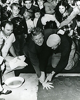 1948 Van Johnson's hand/footprint ceremony at Grauman's Chinese Theater