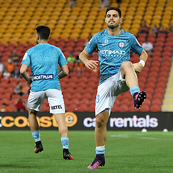 BRISBANE, AUSTRALIA - OCTOBER 30: Bruno Fornaroli of Melbourne warms up before the round 5 Hyundai A-League match between the Brisbane Roar and Melbourne City at Suncorp Stadium on November 4, 2016 in Brisbane, Australia. (Photo by Patrick Kearney/Brisbane Roar)