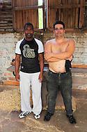 Two guys in a factory in Pinar del Rio, Cuba.