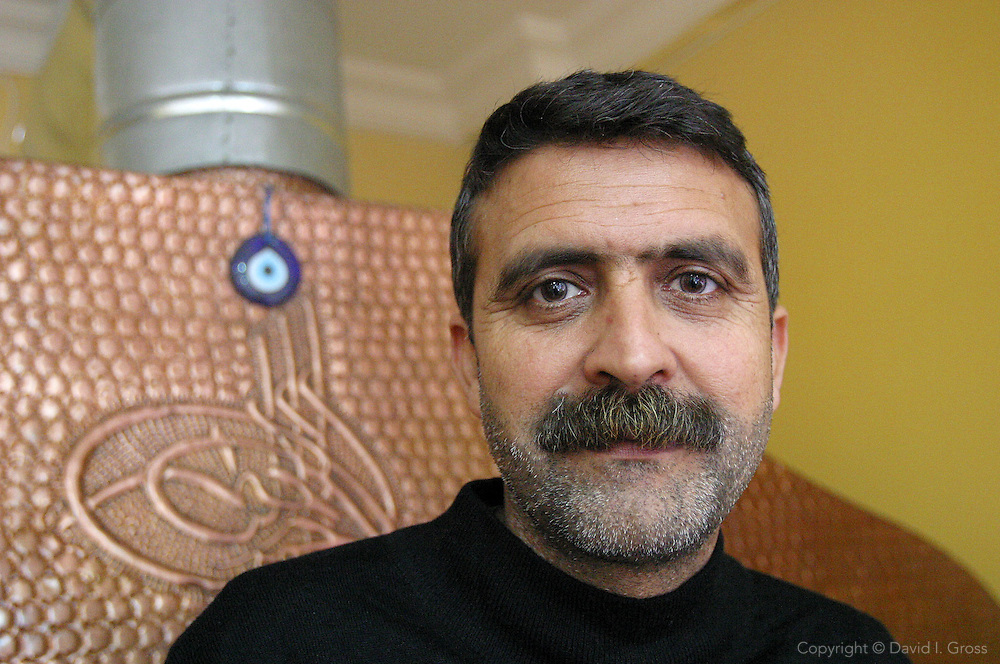 A Kurdish restaurant owner insisted on a portrait in his restaurant in Istanbul, Turkey.