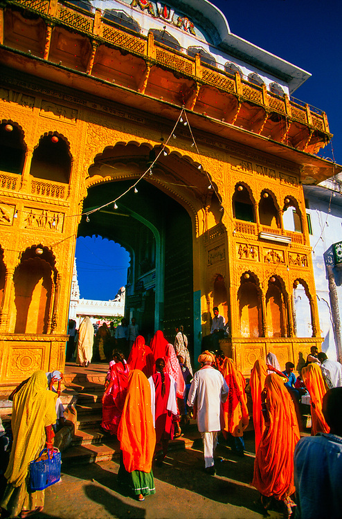 Shri Rama Vaikunth Temple, during the Pushkar Fair, Pushkar, India
