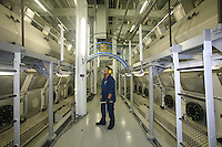 Launch of Royal Caribbean International's newest ship Allure of the Seas..Engineer in the engine room.