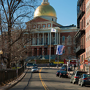 Massachusetts State House from Park St, Boston