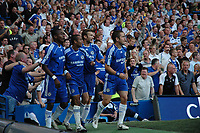 Photo: Tony Oudot.<br /> Chelsea v Blackburn Rovers. The FA Barclays Premiership. 15/09/2007.<br /> Salomon Kalou of Chelsea scores but the goal is disallowed and the Chelsea players look on in disbelief after celebrating