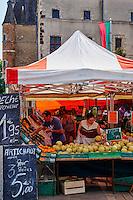 France, Cher (18), Sologne, Aubigny sur Nère, ville des Stuart, route Jacques Coeur, marché hebdomadaire // France, Cher (18), Sologne, Aubigny-sur-Nere, the Jacques Coeur road, City of Stuart, local market