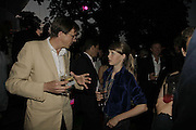 Roderick Campbell and Edie Campbell, The Summer Party sponsored by Yves St. Laurent. Serpentine Gallery. 11 July 2006. . ONE TIME USE ONLY - DO NOT ARCHIVE  © Copyright Photograph by Dafydd Jones 66 Stockwell Park Rd. London SW9 0DA Tel 020 7733 0108 www.dafjones.com