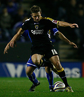 Photo: Steve Bond.<br />Leicester City v Cardiff City. Coca Cola Championship. 26/11/2007. Stephen McPhail shields the ball