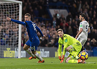 Football - 2017 / 2018 Premier League - Chelsea vs Crystal Palace<br /> <br /> Eden Hazard (Chelsea FC)  turns and prepares to give chase to the ball after Wayne Hennessey (Crystal Palace) blocks his shot at Stamford Bridge <br /> <br /> COLORSPORT/DANIEL BEARHAM