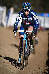 February 10, 2018 - Lille, BELGIUM - US Katie Compton pictured in action at the women's elite race of the Krawatencross cyclocross in Lille, the eighth and last stage in the DVV Verzekeringen Trofee Cyclocross competition, Saturday 10 February 2018. BELGA PHOTO DAVID STOCKMAN (Credit Image: © David Stockman/Belga via ZUMA Press)