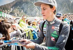 Peter Prevc of Slovenia with fans after the the Ski Flying Hill Men's Team Competition at Day 3 of FIS Ski Jumping World Cup Final 2017, on March 25, 2017 in Planica, Slovenia. Photo by Vid Ponikvar / Sportida
