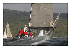 Day 2 of the Bell Lawrie Scottish Series with wild conditions on Loch Fyne for all fleets. Exhilarating and testing racing for Boats and crew...Class 1 GBR744R Hotel california .