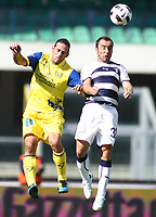 Fotball<br /> Italia<br /> Foto: Insidefoto/Digitalsport<br /> NORWAY ONLY<br /> <br /> 26.09.2010<br /> Chievo v Lazio serie a Tim 2010-2011<br /> <br /> nella foto davide moscardelli chievo, cristian brocchi lazio