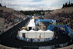 November 12, 2017 - Athens, Attica, Greece - People wait at the Panathenaic stadium for the runners during the 35th Athens Classic Marathon in Athens, Greece, November 12, 2017. (Credit Image: © Giorgos Georgiou/NurPhoto via ZUMA Press)