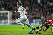 Coentrao dribbles an opponent and leads the attack of Real Madrid