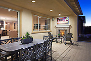 Outdoor Covered Patio with Fireplace and Flat Screen TV