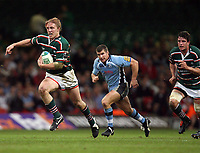 Photo: Rich Eaton.<br /> <br /> Cardiff Blues v Leicester Tigers. Heineken Cup. 29/10/2006. Lewis Moody runs with the ball for Leicester Tigers