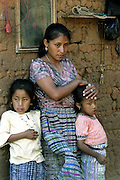 Juana Ruiz Garcia and her two daughter twins, Brenda Marivel Garcia and Lidia Yanette Garcia, 8.  Mrs. Garcia's husband Victor Garcia was one of the illegal immigrants detained in the Bianco raid and has since been deported to his hometown of Xicalcal, Guatemala.