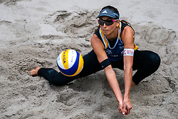 Marta Menegatti ITA in action during the last day of the beach volleyball event King of the Court at Jaarbeursplein on September 12, 2020 in Utrecht.