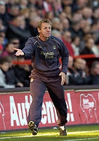 Photo: Olly Greenwood.<br />Charlton Athletic v Manchester City. The Barclays Premiership. 04/11/2006. Manchester City manager Stuart Pearce.