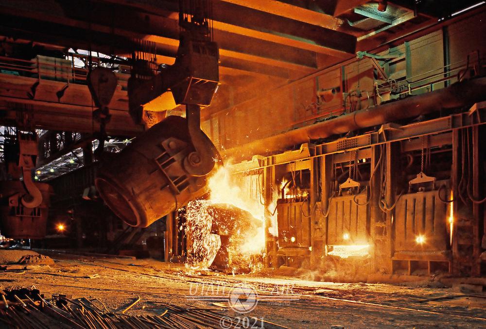 Geneva Steel Open Hearth.Industry steel mill
