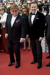 May 16, 2019 - Cannes, France - 72nd Cannes Film Festival 2019, Red Carpet film : Rocket Man.Pictured: Elton John, David Furnish (Credit Image: © Alberto Terenghi/IPA via ZUMA Press)