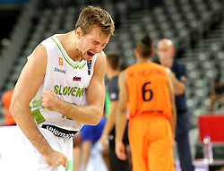 Zoran Dragic of Slovenia reacts during basketball match between Slovenia vs Netherlands at Day 4 in Group C of FIBA Europe Eurobasket 2015, on September 8, 2015, in Arena Zagreb, Croatia. Photo by Vid Ponikvar / Sportida ###THIS IMAGE IS JUST FOR USE IN SLOVENIA  !!! ###