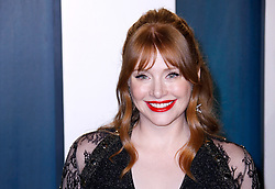 February 9, 2020, Beverly Hills, CA, USA: BEVERLY HILLS, CALIFORNIA - FEBRUARY 9: Bryce Dallas Howard attends the 2020 Vanity Fair Oscar Party at Wallis Annenberg Center for the Performing Arts on February 9, 2020 in Beverly Hills, California. Photo: CraSH/imageSPACE (Credit Image: © Imagespace via ZUMA Wire)