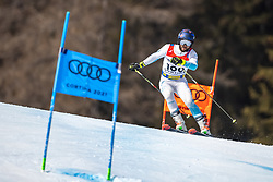 19.02.2021, Cortina, ITA, FIS Weltmeisterschaften Ski Alpin, Riesenslalom, Herren, Qualifikation, im Bild 19.02.2021, Cortina, ITA, FIS Weltmeisterschaften Ski Alpin, // Arif Mohd Khan of India during his qualifications run of men giant slalom of FIS Alpine Ski World Championships 2021 in Cortina, Italy on 2021/02/19. EXPA Pictures © 2021, PhotoCredit: EXPA/ Johann Groder