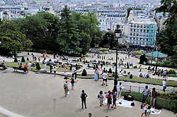 July 5, 2018 - Paris, France - Les touristes a la  Butte Montmartre (Credit Image: © Panoramic via ZUMA Press)