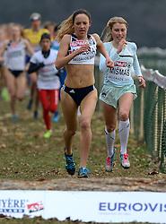 08-12-2013 ATHLETICS: SPAR EC CROSS COUNTRY: BELGRADE<br /> Start junior women 4 km / Links winnares Emilia Gorecka GBR en Marusa Mismas SLO <br /> ©2013-WWW.FOTOHOOGENDOORN.NL