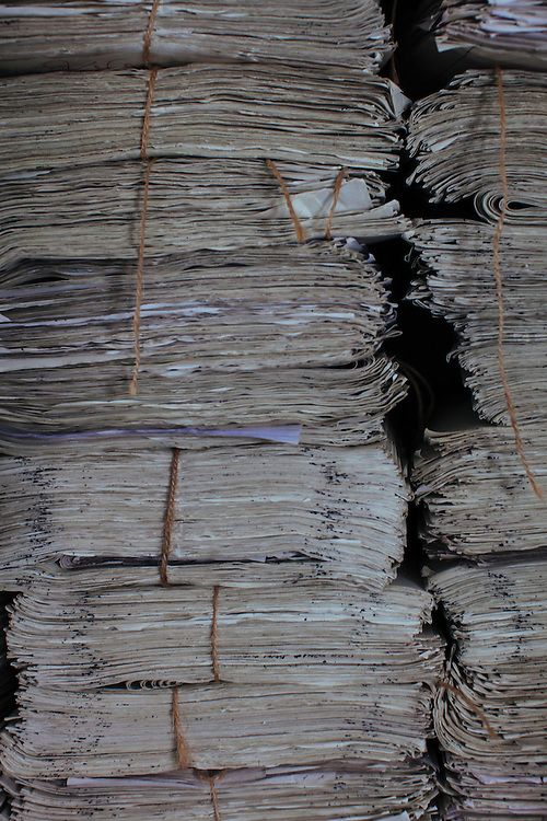 Still Life study of a stack of papers