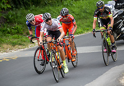 Gorazd Per (SLO) of KK Adria Mobil, Enrico Salvador (ITA) of Tirol Cycling Team,  Ivan Santaromita (ITA) of Nippo-Vini Fantini and Tomas Buchacek (CZE) of Elkov-Author Cycling team during Stage 2 of 24th Tour of Slovenia 2017 / Tour de Slovenie from Ljubljana to Ljubljana (169,9 km) cycling race on June 16, 2017 in Slovenia. Photo by Vid Ponikvar / Sportida