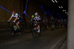 Leah Kirchmann emerges from the tunnel at Ronde van Drenthe 2017. A 152 km road race on March 11th 2017, starting and finishing in Hoogeveen, Netherlands. (Photo by Sean Robinson/Velofocus)