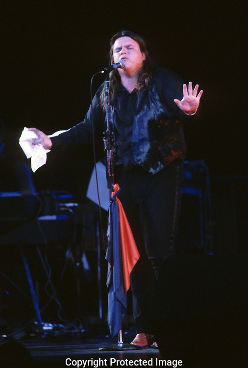 Meatloaf performing at a celebration of the re-opening of Wolftrap (after a fire in 1982), in February 1983...Photograph by Dennis Brack b23
