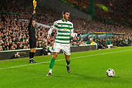 Hatem Elhamed flagged off side during the Europa League match between Celtic and CFR Cluj at Celtic Park, Glasgow, Scotland on 3 October 2019.