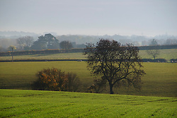 A beautiful late autumn landscape Near Pavenham Bedfordshire England UK. Some parts of southern England enjoyed mild sunny weather over the weekend, though it is expected to be colder next week, Sunday, 1st December 2013. Picture by  Jonathan Mitchell / i-Images