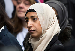 © Licensed to London News Pictures. 23/11/2016. London, UK. FAZILA ASWAT, assistant to Jo Cox outside the Old Bailey in London where a guilty verdict was returned in the murder trial of Labour MP Jo Cox. Thomas Mair was found guilty of shooting and stabbing the mother-of-two in Birstall, West Yorkshire, on 16 June. Photo credit: Ben Cawthra/LNP