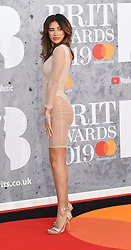 February 21, 2019 - London, London, United Kingdom - Image licensed to i-Images Picture Agency. 20/02/2019. London, United Kingdom. Montana Brown at the Brit Awards in London. (Credit Image: © i-Images via ZUMA Press)
